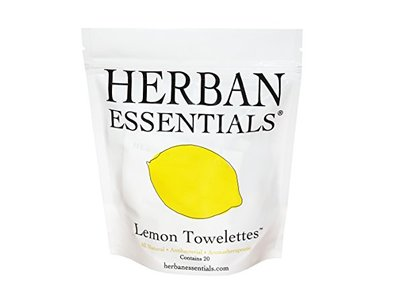 Herban Essentials Lemon Towelettes 20 Count