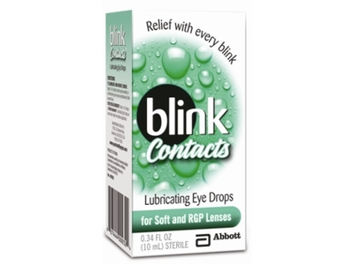 Blink Contacts Lubricating Eye Drops, Abbott Medical Optics - Image 1