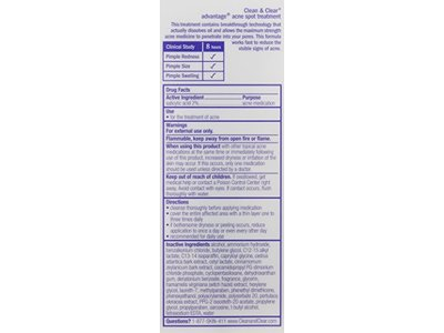 Clean & Clear Clear Advantage Acne Spot Treatment, 0.75 oz. - Image 3