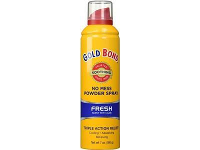 Gold Bond No Mess Spray Powder, Fresh, 7 oz.