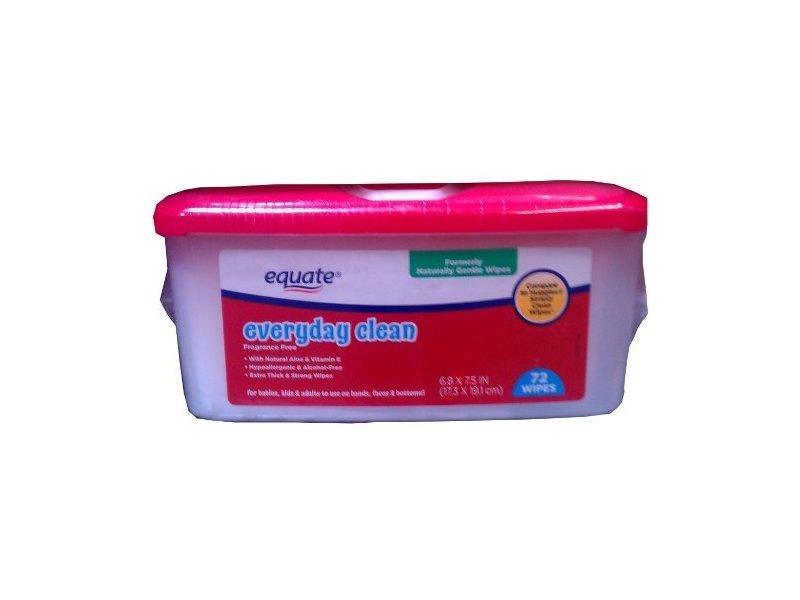 Equate Everyday Clean Gentle Wipes 72ct Ingredients And