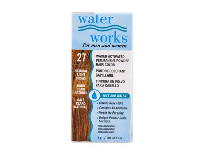Water Works Water Activated Permanent Powder Hair Color, #27 Natural Light Brown
