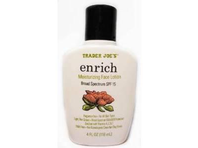 Trader Joe's Enrich Moisturizing Face Lotion, Broad Spectrum SPF 15, 4oz