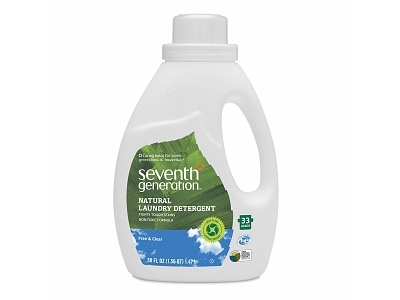 Seventh Generation Natural 4x Concentrated Laundry Detergent, Free & Clear - Image 1