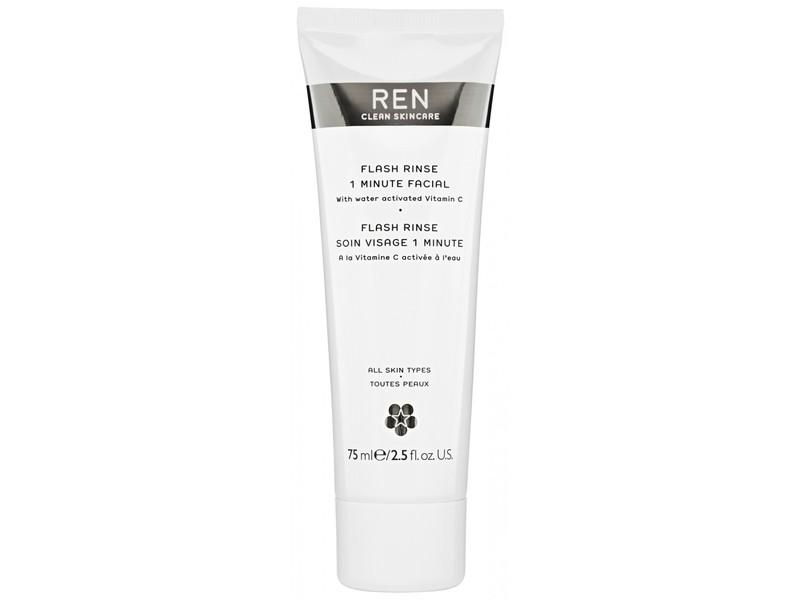 REN Flash Rinse One Minute Facial, 2.5 oz