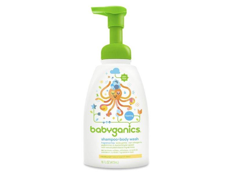 Babyganics Shampoo + Body Wash, Fragrance Free