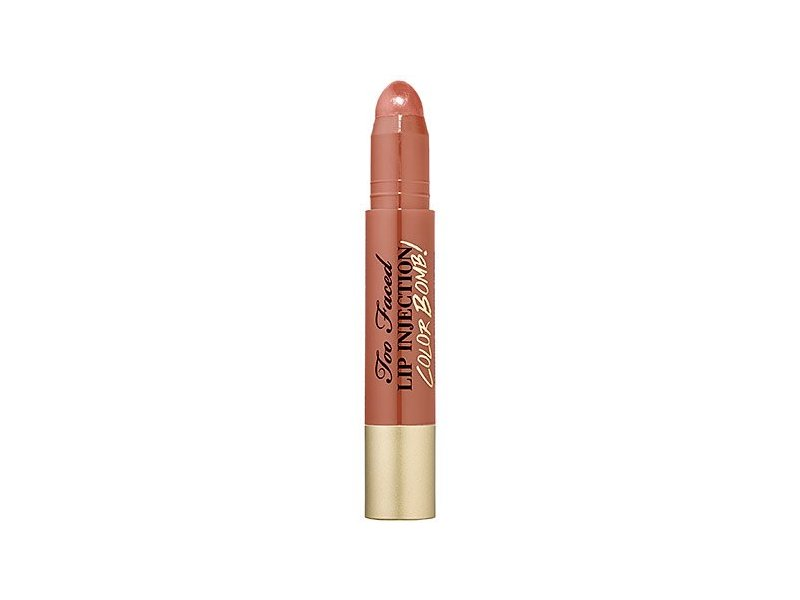 Too Faced Lip Injection Color Bomb Moisture Plumping Lip Tint, Never Enough Nude, 0.1 Ounce