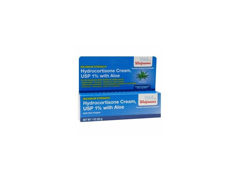 Walgreens Maximum Strength Hydrocortisone Cream, USP 1% with Aloe. 1 oz