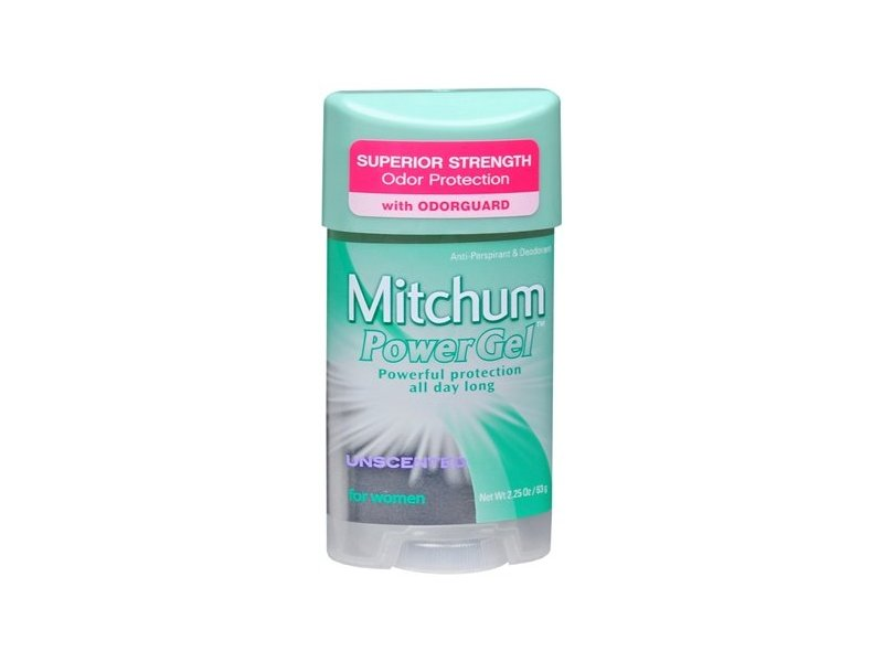 Mitchum Power Gel Anti-perspirant & Deodorant For Women, Unscented, 2.25 oz. (Pack of 2)