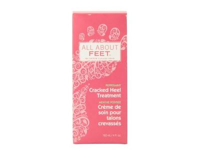 All About Feet Cracked Heel Treatment, Peppermint, 4 oz