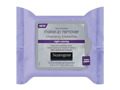 Neutrogena Makeup Remover Cleansing Towelettes Night Calming, Johnson & Johnson - Image 1