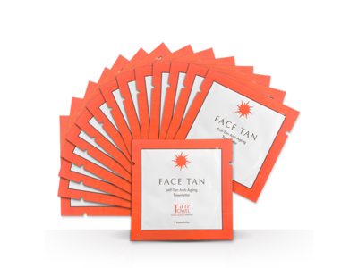 TanTowel Face Tan Self-Tanning Anti-Aging Towelettes 15 count
