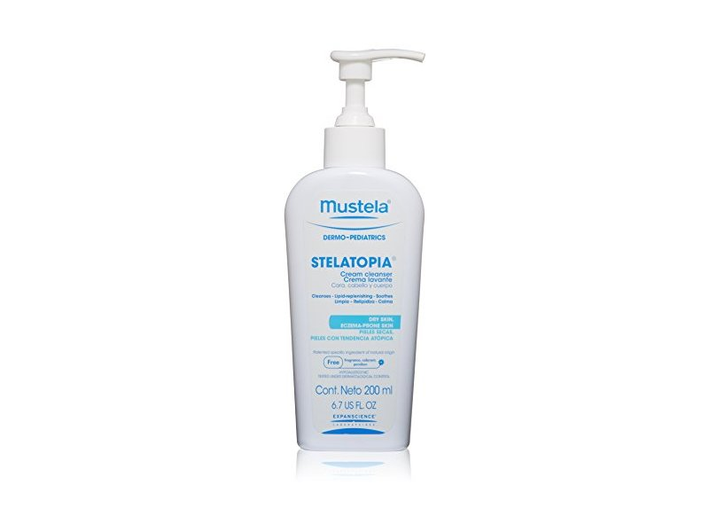 Mustela Stelatopia Cream Cleanser, 6.7 US fl oz
