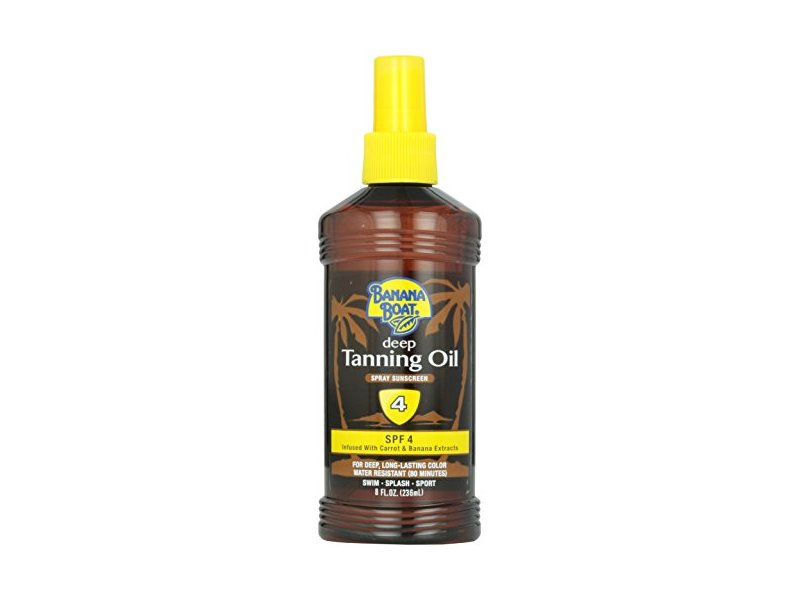 Banana Boat Dark Tanning Oil Spray SPF 4, 8 fl oz.