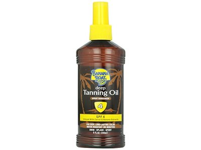 Banana Boat Dark Tanning Oil Spray SPF 4, 8 fl oz. - Image 1