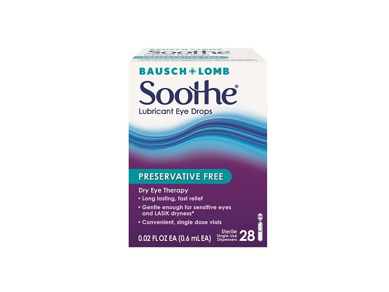 Bausch & Lomb Soothe Preservative Free Lubricant Eye Drops