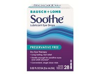 Bausch & Lomb Soothe Preservative Free Lubricant Eye Drops - Image 2