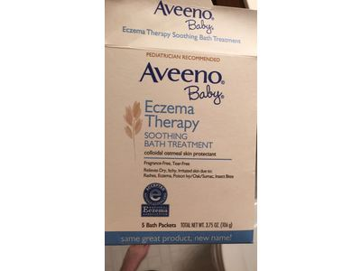 Aveeno Baby Eczema Therapy Soothing Baby Bath Treatment, 5 Count, 3.75oz - Image 7