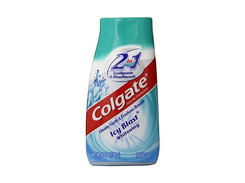 Colgate 2-in-1 Toothpaste & Mouthwash, Whitening Icy Blast, 4.6 oz