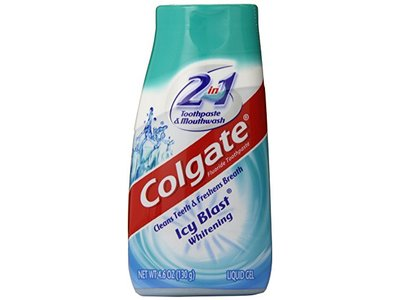 Colgate 2-in-1 Toothpaste & Mouthwash, Whitening Icy Blast, 4.6 oz - Image 1