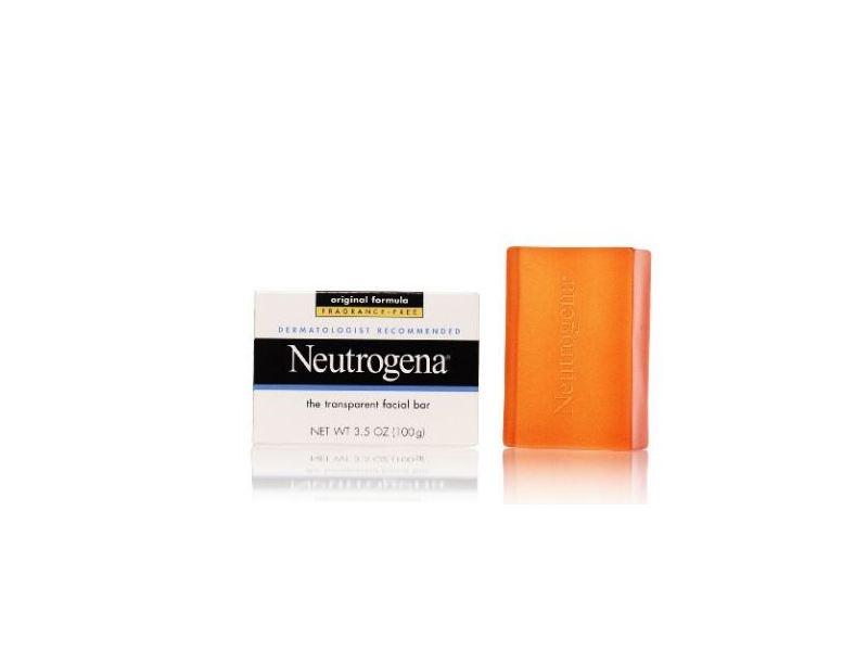 Neutrogena Transparent Facial Bar, Original Formula Fragrance Free, 3.5 Ounce