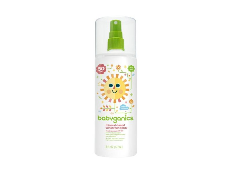 Babyganics Mineral Based Sunscreen Spray - SPF 50+ - Fragrance Free - 5.98 oz