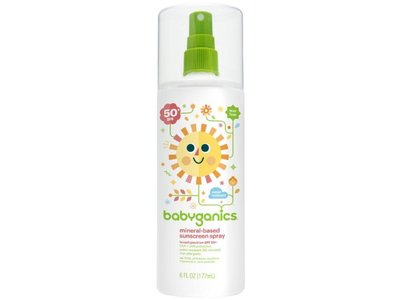 Babyganics Mineral Based Sunscreen Spray - SPF 50+ - Fragrance Free - 5.98 oz - Image 1