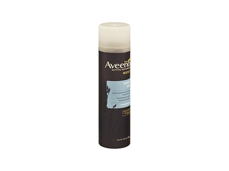 Aveeno Active Naturals Men's Shave Gel, Fragrance Free, 7 oz (Pack of 6)