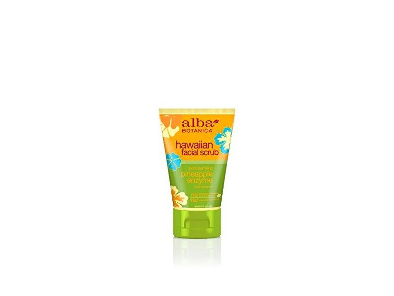 Alba Botanica Hawaiian Facial Scrub with Pineapply Enzyme, 4 Ounce (Pack of 6)