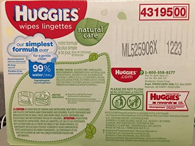 Huggies Natural Care Baby Wipes Lingerettes, 2 Packs, 368 Wipes - Image 3