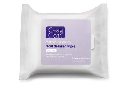 Clean & Clear Makeup Dissolving Facial Cleansing Wipes, Johnson & Johnson
