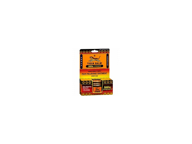 Tiger Balm Ultra Strength Pain Relieving Ointment/Sports Rub (Non-Staining) 0.63 Oz. (18g) Jar ( Value Bulk Multi-pack)