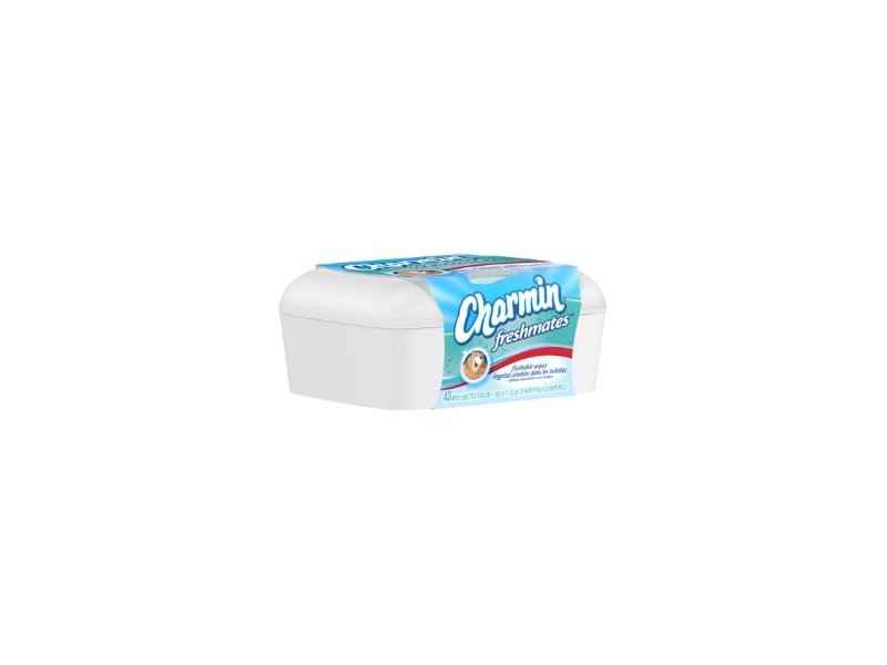 Charmin Freshmates Flushable Wipes 40 Count - with Refillable Tub