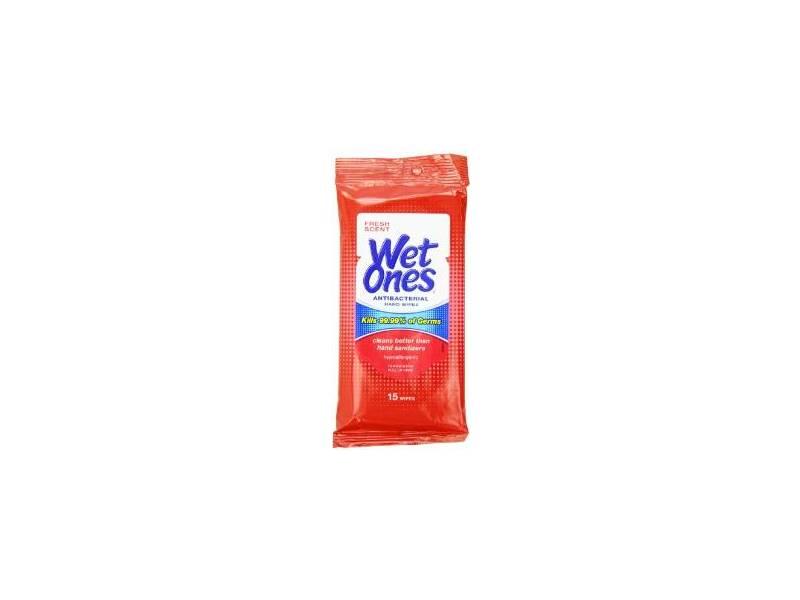 Wet Ones Antibacterial Hand Wipes, 20 wipes