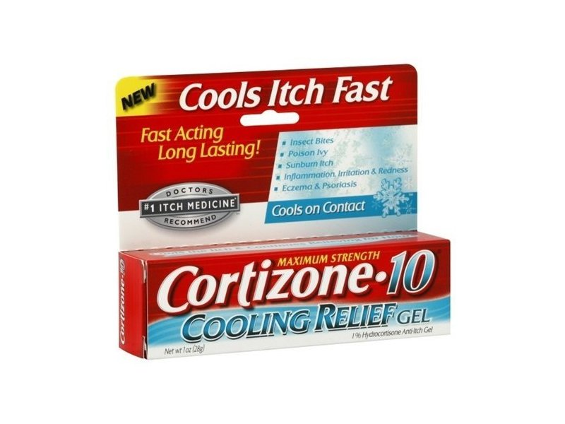 Cortizone-10 Maximum Strength 1% Hydrocortisone Anti-Itch Cooling Relief Gel 1 oz (Pack of 6)