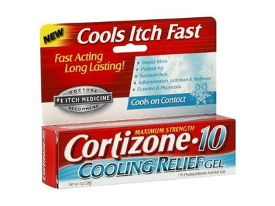 Cortizone-10 Maximum Strength 1% Hydrocortisone Anti-Itch Cooling Relief Gel 1 oz (Pack of 6)