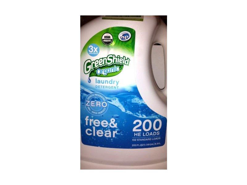 GreenShield USDA Organic Free & Clear Laundry Detergent, 50 oz