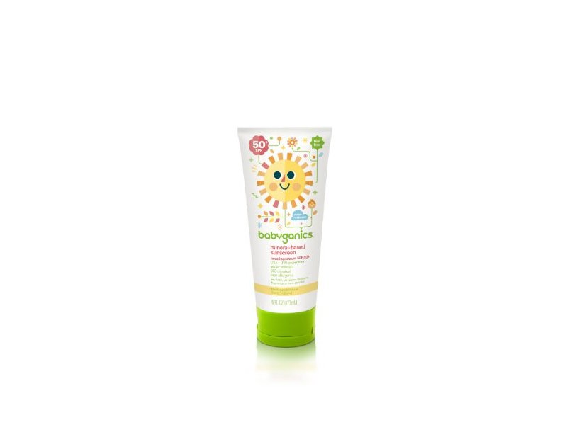 Babyganics Mineral-Based Sunscreen SPF 50, 6 oz (Pack of 2)