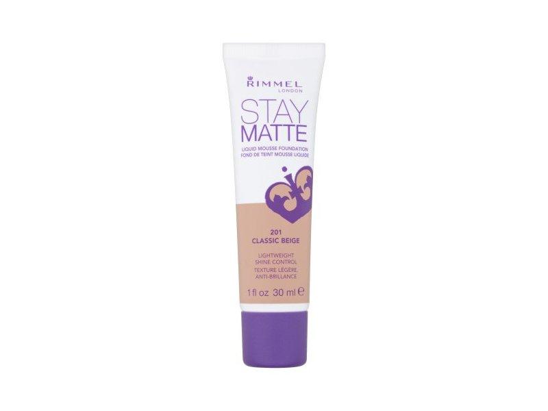 Rimmel Stay Matte Liquid Mousse Foundation, 201 Classic Beige, 1 fl oz