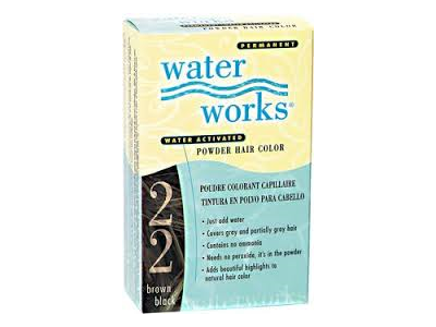 Water Works Water Activated Permanent Powder Hair Color, #22 Brown Black