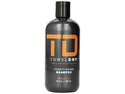 Towel Dry Conditioning Shampoo for Men, 12 Ounce