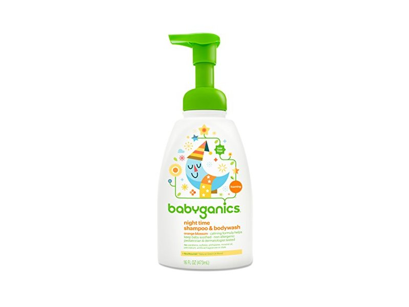 Babyganics Baby Shampoo Plus Body Wash, Orange Blossom, 16 Ounce