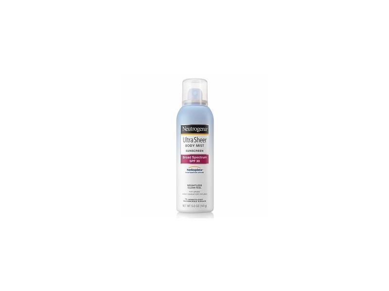Neutrogena Ultra Sheer Body Mist Sunscreen Broad Spectrum SPF 30, Johnson & Johnson