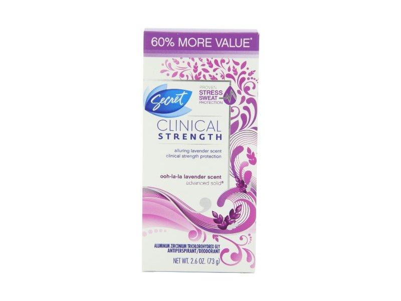 Secret Clinical Strength Women's Advanced Solid Ooh-La-La Lavender Scent Antiperspirant & Deodorant 2.6 Oz