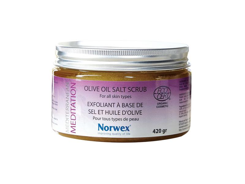 Norwex Mediterranean Meditation Olive Oil Salt Scrub, 420 g/14.82 oz