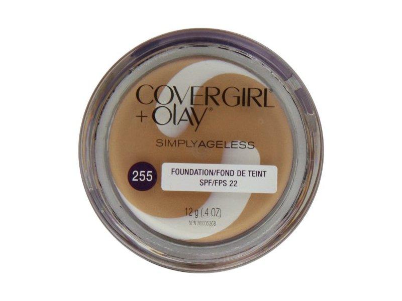 CoverGirl & Olay Simply Ageless Foundation, Soft Honey 255, 0.40-Ounce