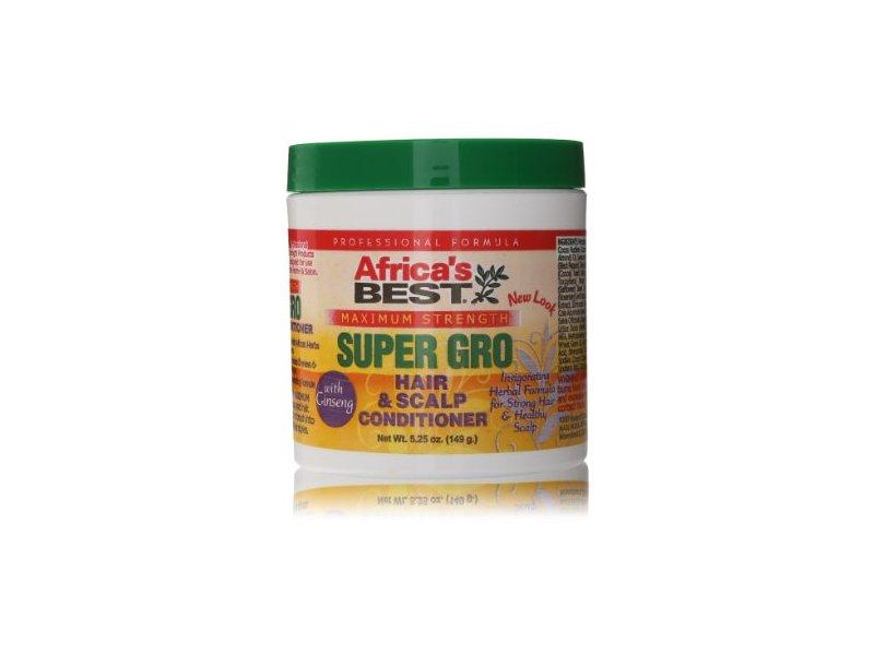 Africa's Best Super Gro Maximum Hair & Scalp Conditioner, 5.25 oz