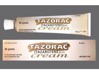 Tazorac Topical Cream 0.1% (RX), 15 Grams, Allergan - Image 1