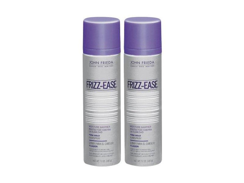 John Frieda Frizz-Ease Moisture Barrier Firm, Hold Hair Spray, 12 oz, 2 pk
